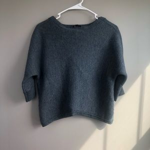 The Limited Cropped Gray Sweater Size XS